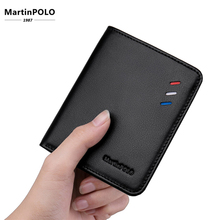 MartinPOLO 2019Men Genuine Leather Wallet Short Design Mini Ultra-thin Compact Cowhide Card Holder Handmade MP1002