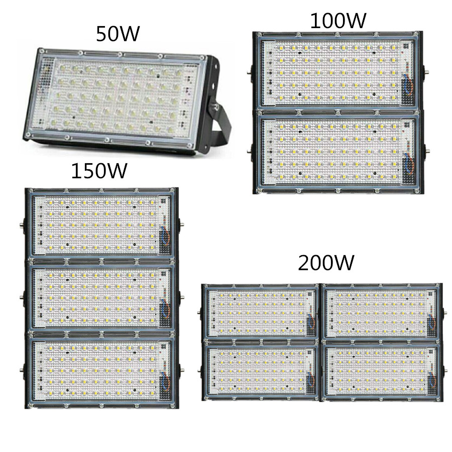 LED COB Iodine Tungste Lamp Hight Power 50W 100W 150W 200W Flood Light AC 220V Spotlight Refletor Outdoor Lighting Advertising