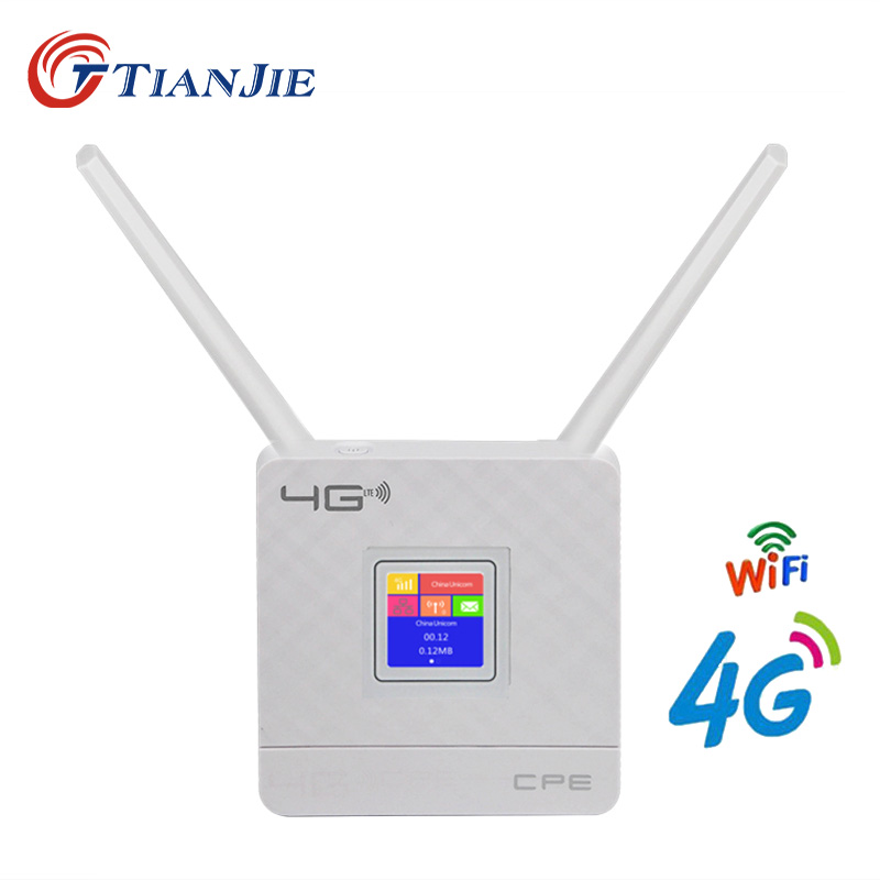 Tianjie 4G router portabil deblocat dongle modem wireless slot cartelă SIM port RJ45