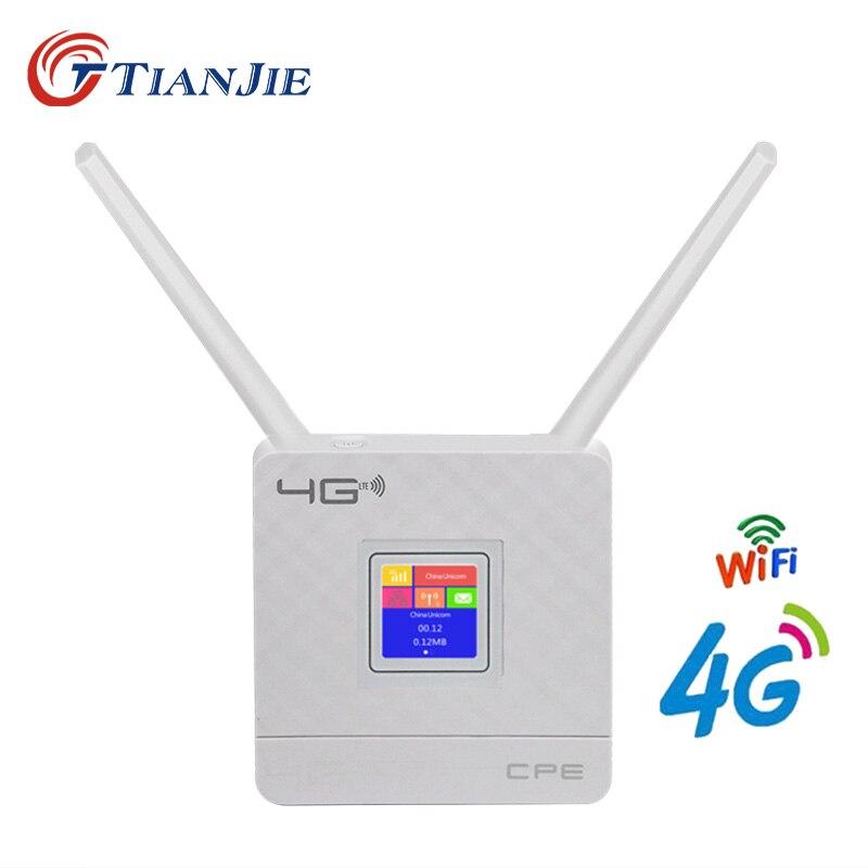 TIANJIE 4g Routeur Portable Débloqué Dongle Sans Fil Modem SIM Fente Pour Carte RJ45 Port