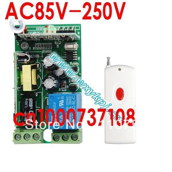 51f9531ceba0 Venta caliente 220 V 10a 1 Ch RF inalámbrico Control remoto envío libre  sistema fácil de instalar y de seguridad