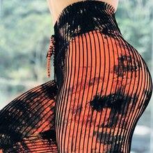 Женские модные повседневные трикотажные леггинсы с высокой талией с принтом сексуальные брюки карандаш Утягивающие легинсы Mujer женские оранжевые Леггинсы