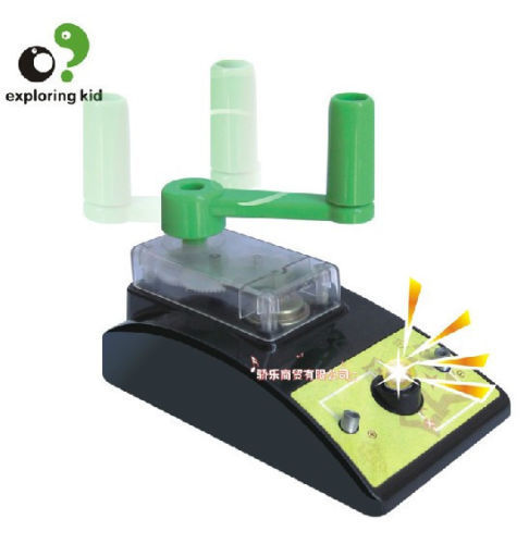 exploring kid creat toy scientific experiment game model Dynamo hand generator 1set