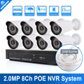 1080P 8CH PoE NVR Recorder System Kit Bullet Camera Video System 8 Channel POE NVR CCTV System 2MP IP Camera Security System kit