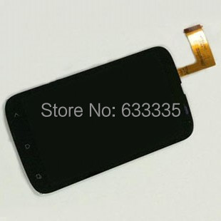 LCD Display Touch Screen Digitizer Assembly For HTC Desire V T328w 328W front outer glass lens black