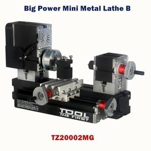 Image 2 - Thefirsttool tz20002mg mini torno de metal b máquina com 12000r/min 60 w motor maior raio de processamento diy ferramentas presente de chryldren