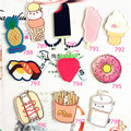 New Acrylic Badge HARAJUKU sushi Donuts Cherry Brooches for Women Pin Up Clip Scarf Collar Bag Broche ab05