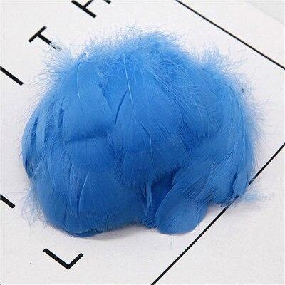 Натуральные перья лебедя 4-7 см 1-2 дюйма маленькие плавающие Шлейфы гусиное перо цветной шлейф для украшения рукоделия 100 шт - Цвет: middle blue 100pcs