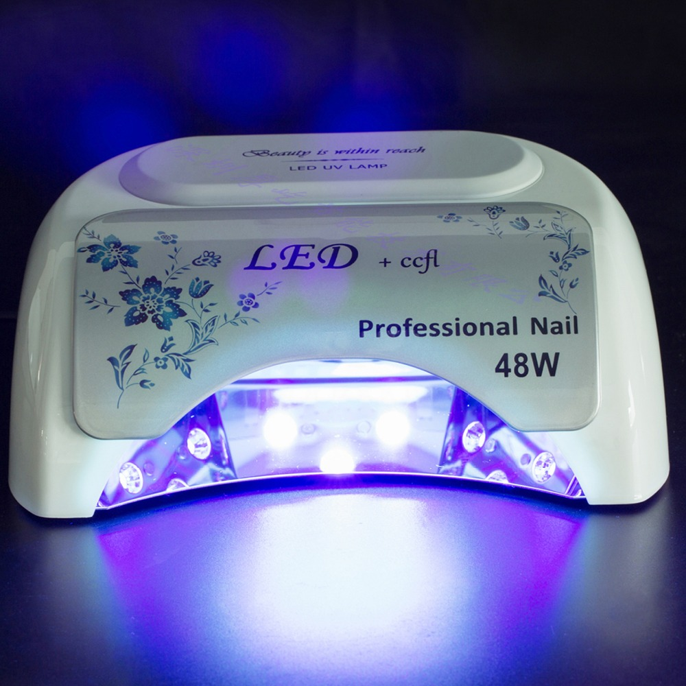2017 new design 48w Automatic nail dryer  machines UV+LED of dual-use high-power efficient  induction up grades new professional dc 12v 2a 24w uv led nail lamp nail dryer unique design intelligent induction three setting buttons an adapter