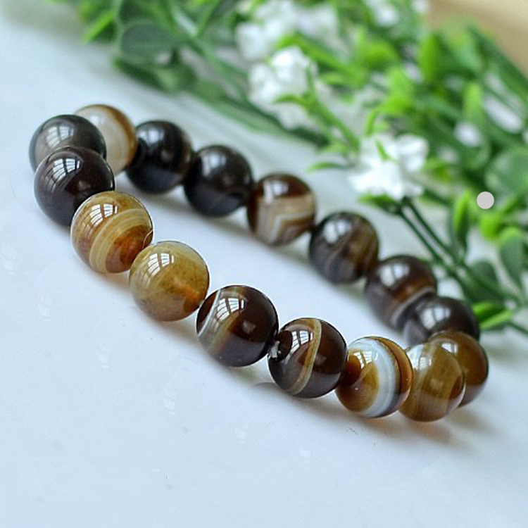 Natural Stones Bracelets Yellow Onyx Beads Bracelets Elastic Rope Bracelet Men Jewelry Women Bracelet