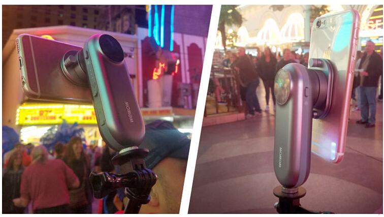smartphone 1axis gimbal stabilizer steadicam mobile mount led light selfie stick. Black Bedroom Furniture Sets. Home Design Ideas