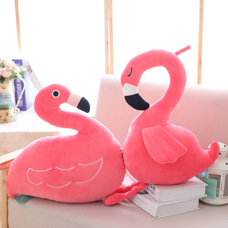 Kawaii Anime Stuffed Toy Flamingo Plush Toy Soft Toys Simulation Animals Pillow Collection Decor Baby Bed Toys for Children gift