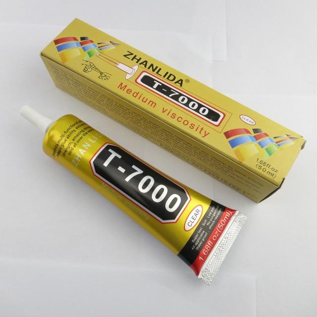 e5e15d25249 5 tubos T-7000 pegamento 50 ml negro súper adhesivo teléfono celular  pantalla táctil Marco