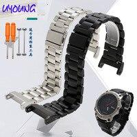 UYOUNG Fit Beidou smart watch strap TA208/218/228/206 leather strap fine steel watch chain waterproof