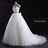 Vivian S Bridal White Ball Gown Cap Sleeve Detachable Strap Beading Lace Wedding Dress With Big