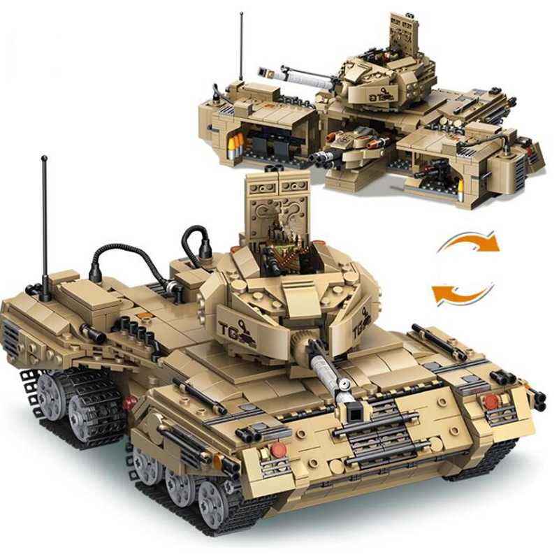 Hot military series building blocks tank model playmobil2 in 1 deformation tank blocks assembling construction toys for children enlighten building blocks navy frigate ship assembling building blocks military series blocks girls