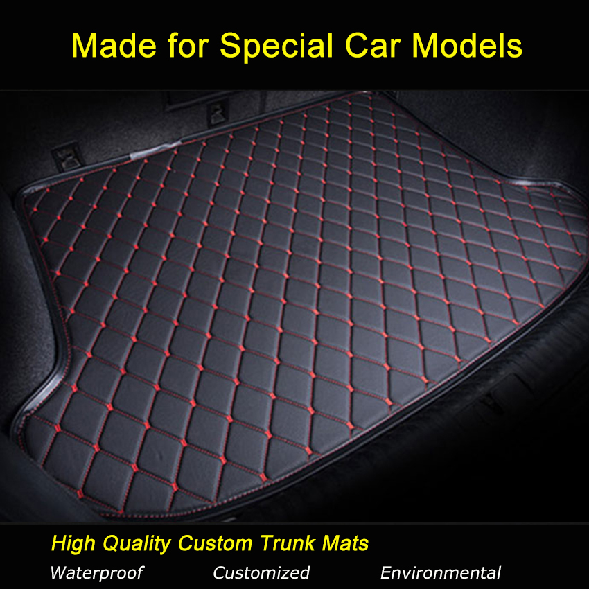 Car Trunk Mats Specially for Honda Accord 7 8 9 Sprior CRV CIVIC FIT CITY Odyssey Trunk Carpets Waterproof Trunk Rugs