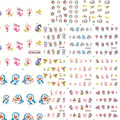 1sets 11 designs 3d DIY Cartoon Lovely Stickers Nail Art Water Transfer Decals Decorations Children Polish Tools BLE1687-1697