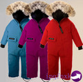 2016 Winter baby Rimoer down coat Baby clothes outerwear Fur Hooded children's clothing down coats Newborn Child jumpsuit romper