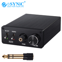 eSYNiC Digital To Analog Audio Converter With HiFi Headphone Amplifier Coaxial SPDIF Toslink To L/R RCA Audio Adapter 192kHz DAC