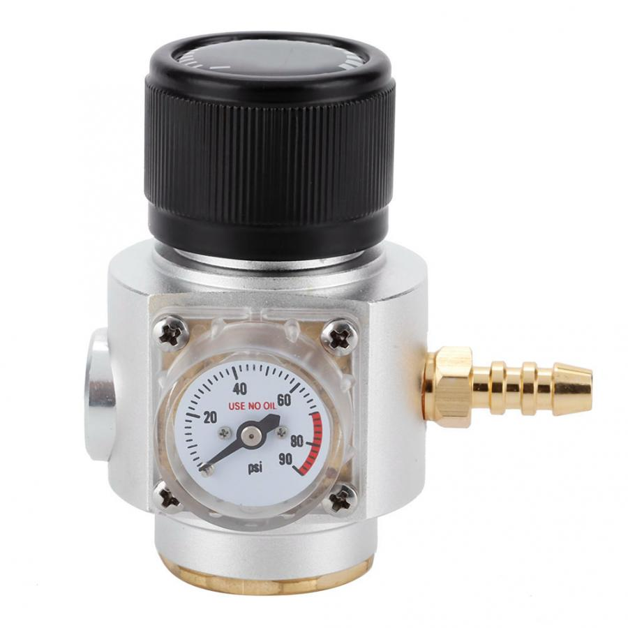 Co2 Valve Diffuser CO2 Control CO2 Mini Gas Regulator T21 * 4 Soda Pressure Gauge Wire CO2 Charger Kit 0-90 PSI( For European)