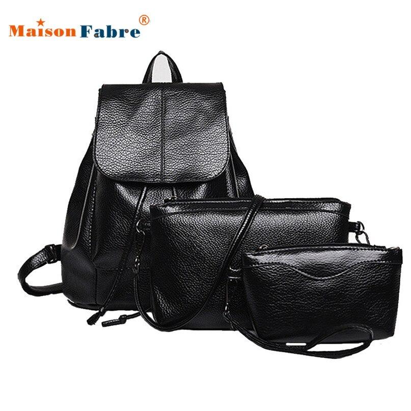 Women Backpacks Three Sets Of Shoulder For Teenage Girl Waterproof Travel Bag 0418 drop shipping
