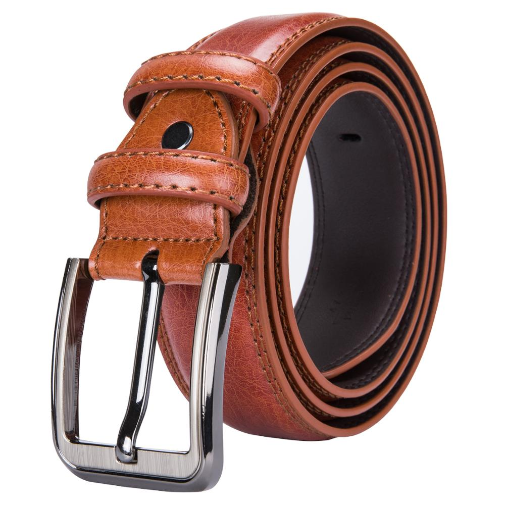 High Quality Men's Vintage Jeans Belts Pin Buckle Male Cowboy Brown Belt For Men Fashion Narrow Thin Wild Leather Belts