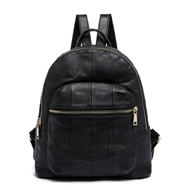 Women Backpack Genuine Leather School Bags For Teenagers Girls Top-handle Notebook Laptop Backpack school Travel bag 6292# new gravity falls backpack casual backpacks teenagers school bag men women s student school bags travel shoulder bag laptop bags