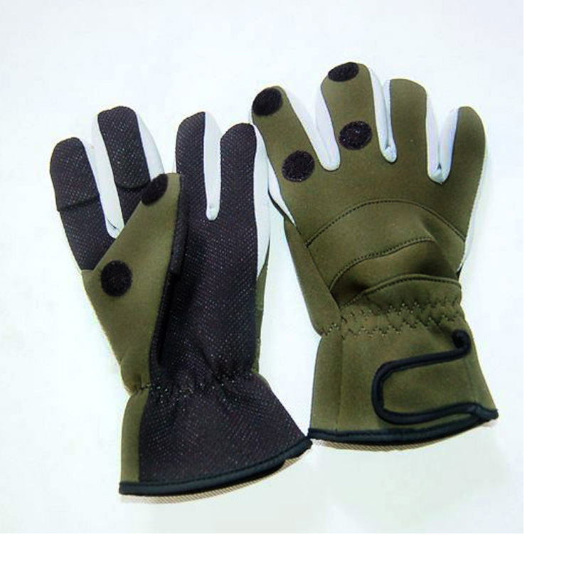 Waterproof Winter Fishing Glove Thicken Warm 3 Fingers Cut Expose