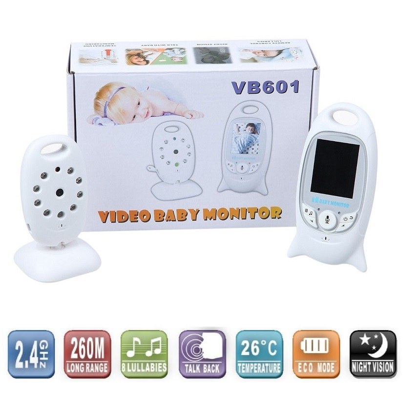 ФОТО Baby monitors baby monitor 2.0 inch baby intercom IR Night vision Lullabies Temperature monitor Multi-language VOX nanny doppler