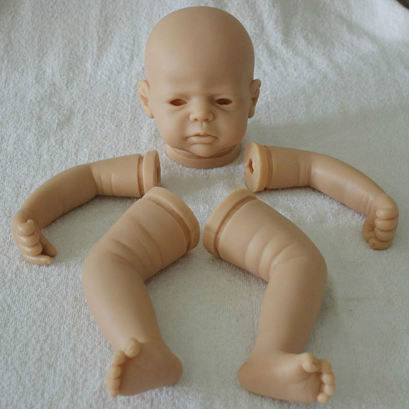 DIY Silicone Vinyl Reborn Baby Doll Mold Creative Lifelike Handmade Reborn Doll Kits Limbs and Head High-end Doll facemile lovely creative baby design silicone cake mold