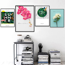 Flower Flamingo Parrot Tropical Leaf Wall Art Canvas Painting Nordic Posters And Prints Landscape Pictures For Living Room