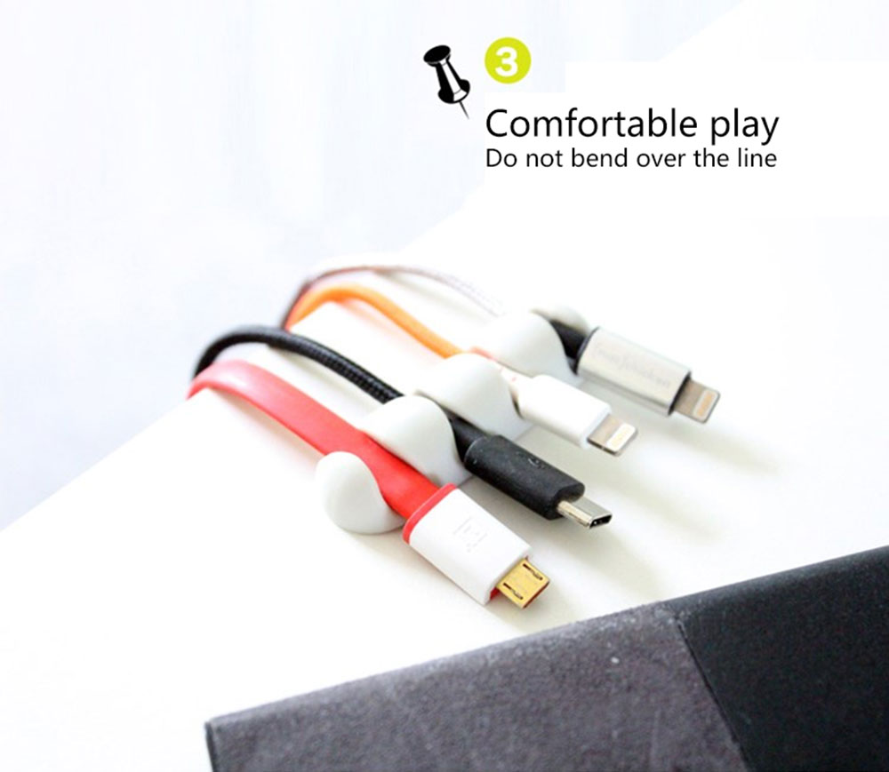 2 PCS/SET TPE Adhesive Household Cable Holders Cable Clips ...