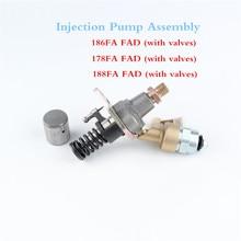 188FA 178FA 186FA одноцилиндровый с воздушным охлаждением дизельный инжекторный двигатель насос в сборе с электромагнитным клапаном детали топливного насоса высокого давления