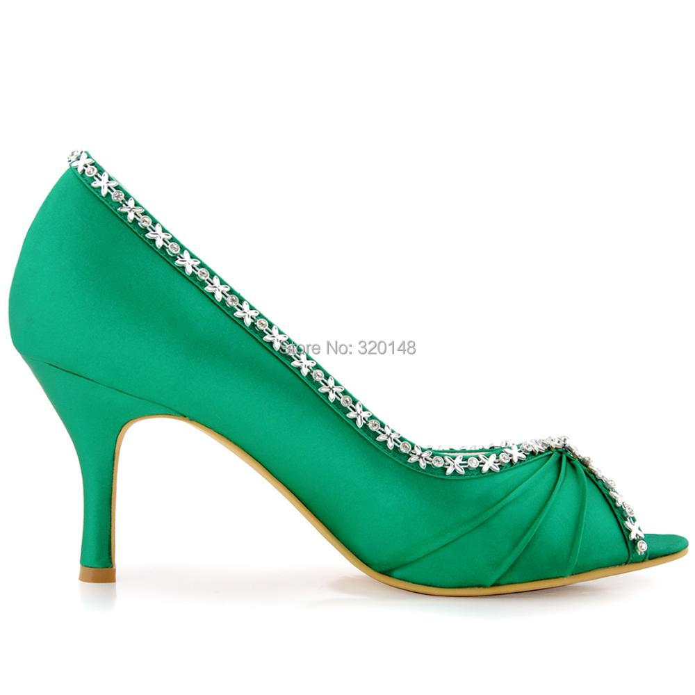 Women Shoes Lavender Bridesmaid High Heel Rhinestones Pumps Satin ...