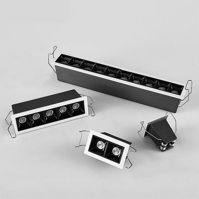 SCON 28CM 10W 10head Led light bar for boardroom commerce office modern fashion projector lamp  CRI Ra>85 indoor lighting