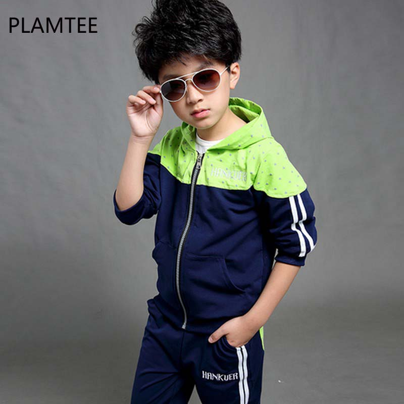 PLAMTEE 2017 Kids Clothes Boys Fashion Baby Autumn Hoodied Coats Child Full Pants Set Children Jackets Boy Clothing Sports Suits 2017 new boys clothing set camouflage 3 9t boy sports suits kids clothes suit cotton boys tracksuit teenage costume long sleeve