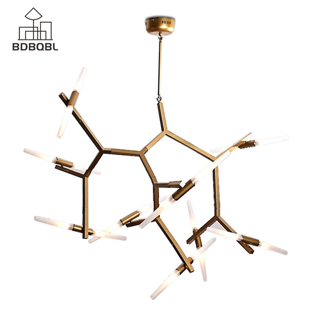 BDBQBL  6/10/14 Heads Modern LED Chandelier Lighting 110-240V G9 LED Chips Ceiling Chandeliers  Living Room Aluminum Chandelier