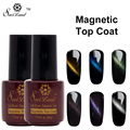 Saviland 1pcs Magnet Top Coat Gel Cat Eye Nail Polish Vernis Semi Permanent Gel Cat Eye Lacquer Magnetic Top Coat