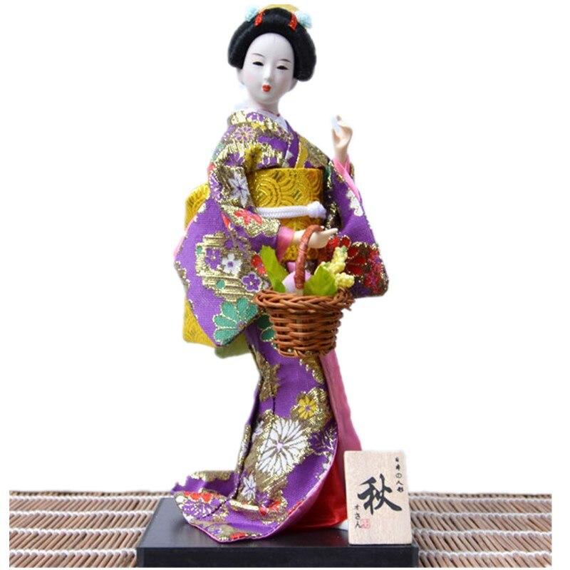 ①30 cm hogar artesanía japonés Geisha esculturas hermosa kimono ...