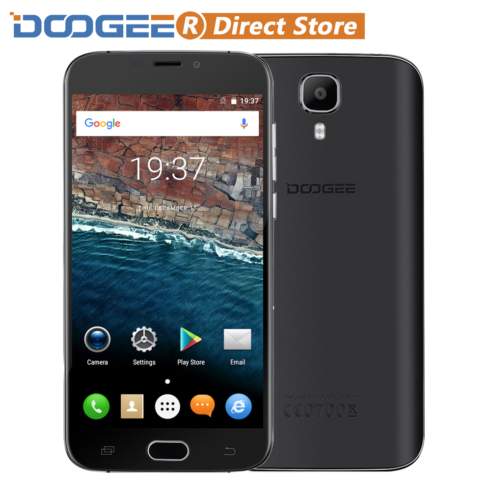 """Цена за Doogee x9 pro 4 г отпечатков пальцев 5.5 """"1280*720 Смартфон Android 6.0 MTK6737 64 бит Quad Core 2 ГБ + 16 ГБ 8MP 3000 мАч OTG Мобильный телефон"""