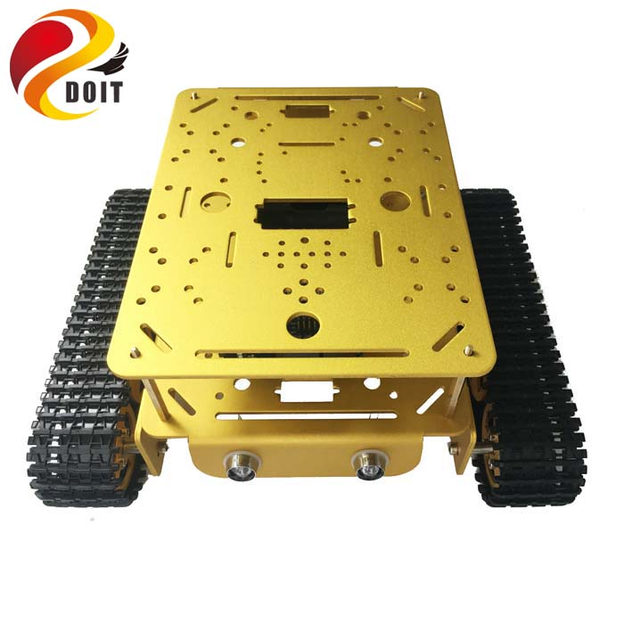 Double Layer Tank Chassis DT200 RC WiFi Robot Tank Car Model ESPduino Compatible with Arduino UNO R3 DIY RC Toy цена
