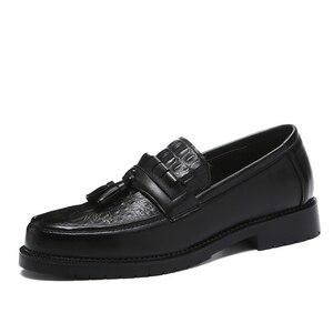 Image 3 - 2020 Men Dress Shoes Formal Shoes Mens Handmade Business Wedding Leather Men Oxfords