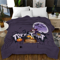 3D Halloween Flannel Blanket Soft Bedspread Christmas Decorations for Home Sherpa 150*200cm Fluffy Blanket Anti Pilling Blankets