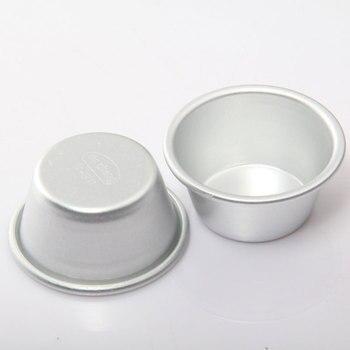 20 unids/lote de 5cm de diámetro de Metal, molde para pasteles, pudín y Pan, utensilios para hornear, DIY, Fondant, moldes de accesorio de cocina P10086