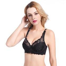 New Sexy Lace Bralette Bra Women Underwear Push Up Bra Untra-thin Comfortable Breathable Brassiere Plus Size Women Lingerie bh 2