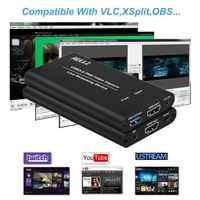USB3.0 HDMI 4K 60Hz carte de Capture vidéo HDMI vers USB boîte d'enregistrement vidéo Dongle jeu diffusion en direct avec entrée micro