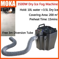 3500W Dry Ice Fog Machine stage low ground fog machine Floor Co2 smoke spray jet Wedding Party Effect Machine