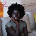 Corto Afro Rizado Rizado Encaje Completo Pelucas de Cabello Humano Mongol Corto Afro Rizada rizada Virginal Del Pelo Rizado Rizado de Las Pelucas Del Frente Del Cordón Pelucas
