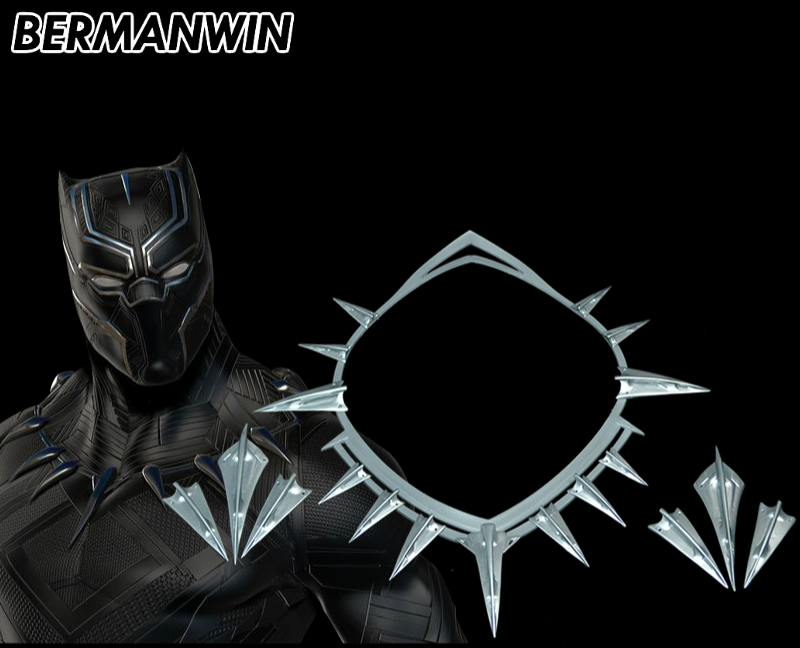 Black Panther Necklace Arm Ornament Cosplay Prop Resin Gift Cos Party Unisex New